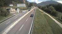 Trento: SS_km  Comune di - vista del tratto U-U in direzione NORD) loc.Piedicastello - Actual
