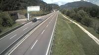 Trento: SS_km  Comune di - vista del tratto U-U in direzione NORD) loc.Piedicastello - Overdag