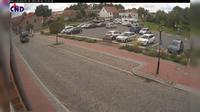 Gadebusch: Parkplatz Lübsche Str., im Hintergrund das Schloß - Dia