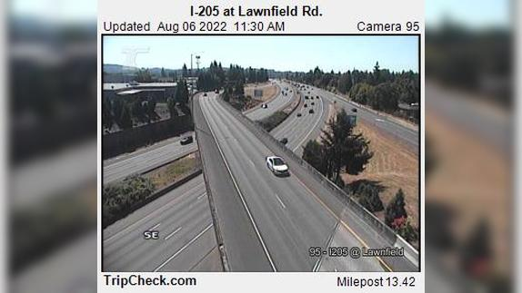 Webcam Clackamas: I-205 at Lawnfield Rd
