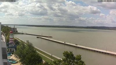 Vue webcam de jour à partir de Gárdony: Lake Velence