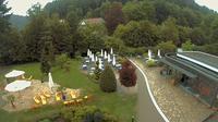 Bad Liebenzell › North: Christliche Gästehäuser Monbachtal - Blick vom Cafe auf Gästehäuser Richtung Norden - Aktuell