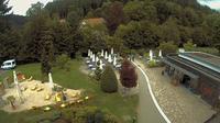 Bad Liebenzell › North: Christliche Gästehäuser Monbachtal - Blick vom Cafe auf Gästehäuser Richtung Norden - El día