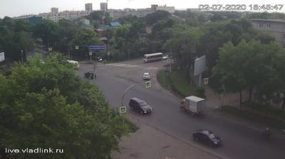 Уссурийск, перекресток Некрасова - Комарова