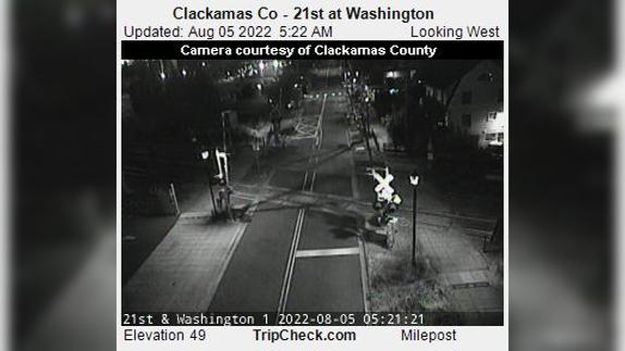Webcam Milwaukie: Clackamas Co − 21st at Washington