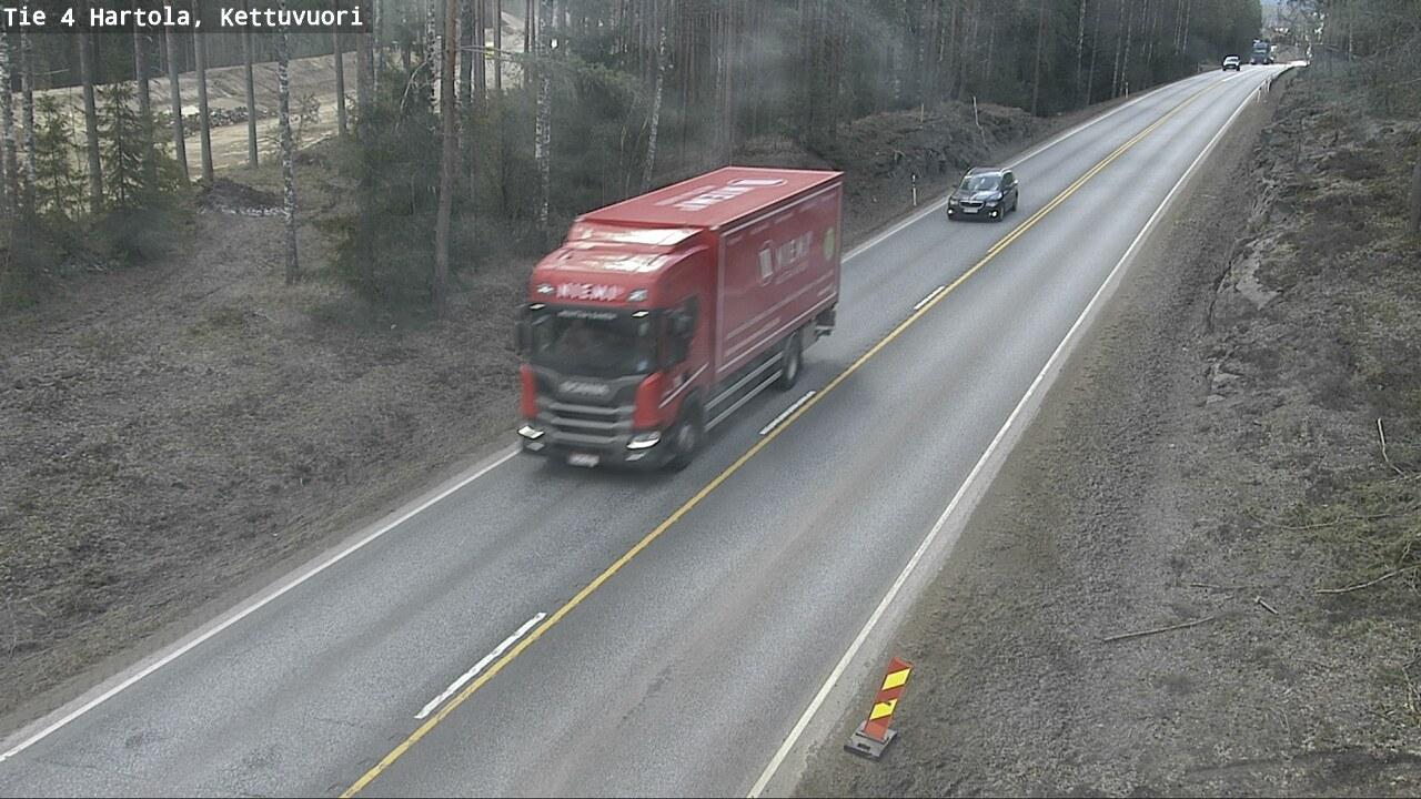 Webcam Hartola: Tie 4 − Kettuvuori − Lahteen