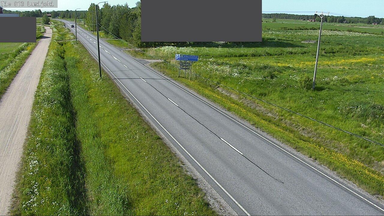 Webcam Lumijoki: Tie 813 − Raaheen