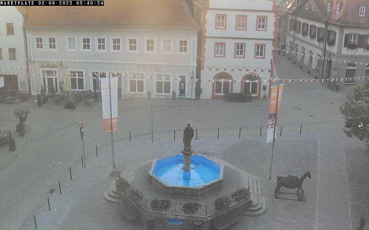 Webcam Volkach: Rathausplatz - Wetterdienst.de