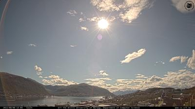 Daylight webcam view from Tromsø › South: Institutt for Informatikk, Universitetet