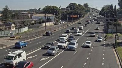 Daylight webcam view from Drummoyne: Gladesville Bridge, Sydney