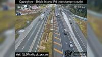 Caboolture: South - Bribie Island Interchange over Bruce highway (looking South) - Overdag