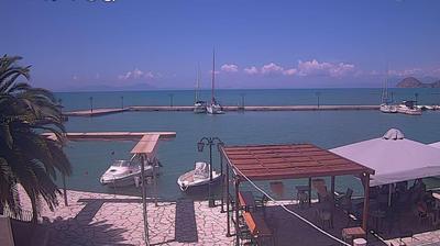 Vue webcam de jour à partir de Skála Sagiádas: SiorraMalia, Σαγιάδα Θεσπρωτίας, Παραλία