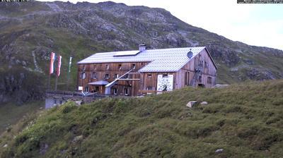 Vista actual o última desde Gaschurn: Heilbronner Hütte (2320m) − DAV