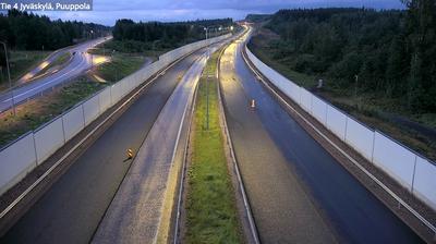 Current or last view from Jyvaskyla: Tie 4 − Puuppola − Jyväskylään