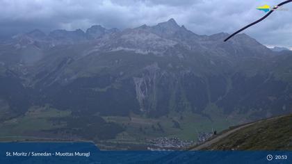Sankt Moritz: Muottas Muragl, Blick Richtung Golfplatz Samedan