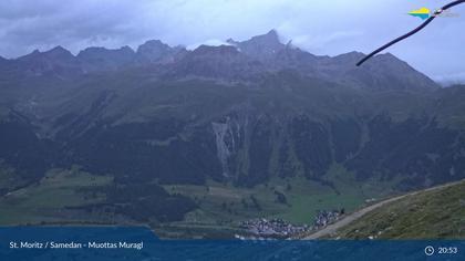 Sankt Moritz: St. Moritz - Muottas Muragl, Blick Richtung Golfplatz Samedan