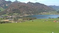 Ultima vista de la luz del día desde Walchsee: Kaiserwinkl