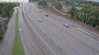 Ostermalms stadsdelsomrade: Ekhagen (Kameran är placerad på Roslagsvägen (E.) mellan Ålkistan och trafikplats Ekhagen och är riktad mot Stockholm - Day time