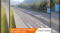 Sankt Andra: A, zwischen Anschlussstelle Villach-Ossiacher See und Knoten Villach, Blickrichtung Salzburg - Km , - Recent