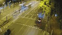 Barcelona: Diagonal at Francesc Macià (looking to outbound West - cars entering into BCN) - Actuales