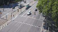 Barcelona: Diagonal at Francesc Macià (looking to outbound West - cars entering into BCN) - El día