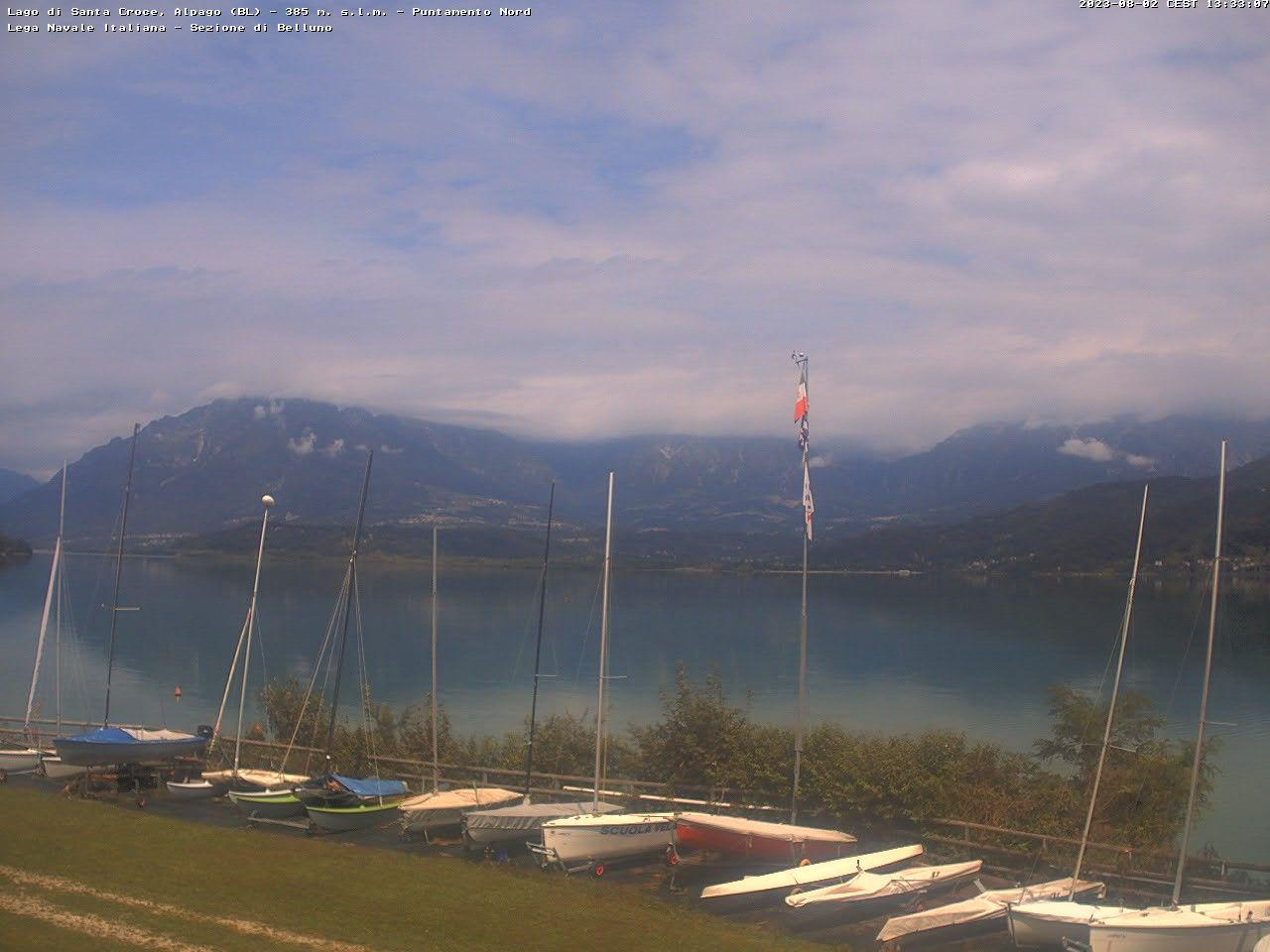 Webcam Alpago am Lago di Santa Croce - Lega Navale Belluno