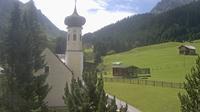Ultima vista de la luz del día desde Gargellen: Kuratienkirche zur Heiligen Magdalena