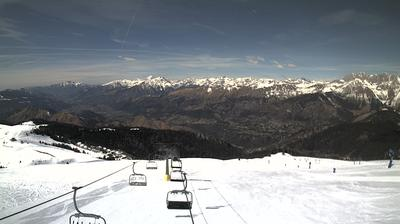 Daylight webcam view from Castione della Presolana: Presolana Monte Pora