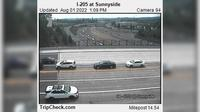 Last daylight view from Sunnyside: I 205 at