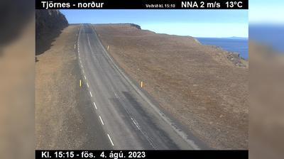 Current or last view from Egilsstaðir: Raufarhafnarvegur