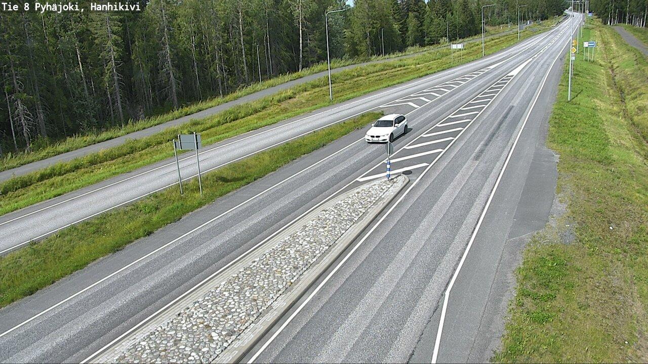 Webcam Pyhäjoki: Tie 8 − Hanhikivi − Ouluun