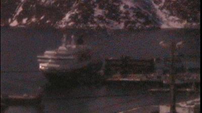 Daylight webcam view from Honningsvåg: Honningsvaag