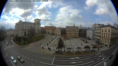 Daylight webcam view from Bielsko Biala › South West: Starówka