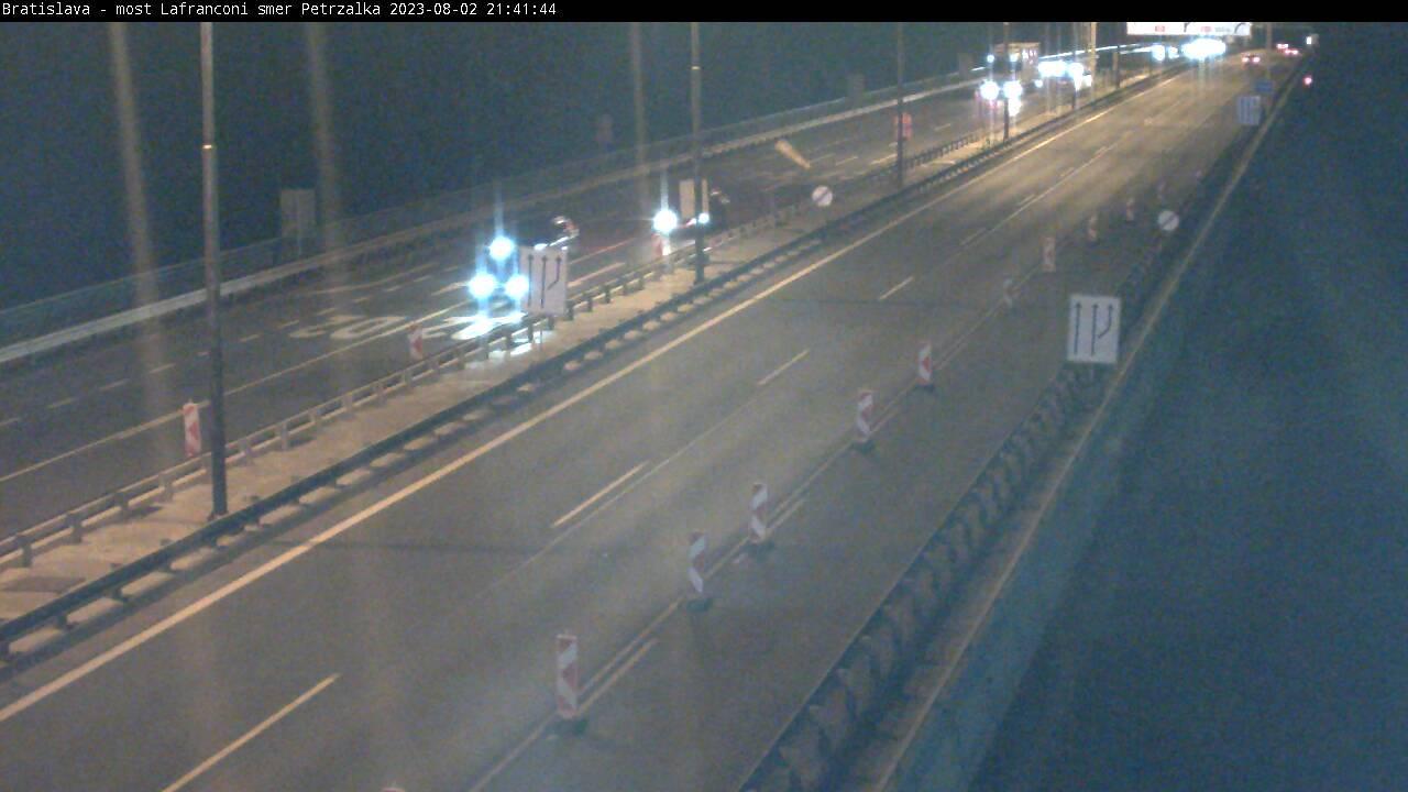 Webcam Bratislavský: Diaľnica D2/E65 Lafranconi Bridge, v