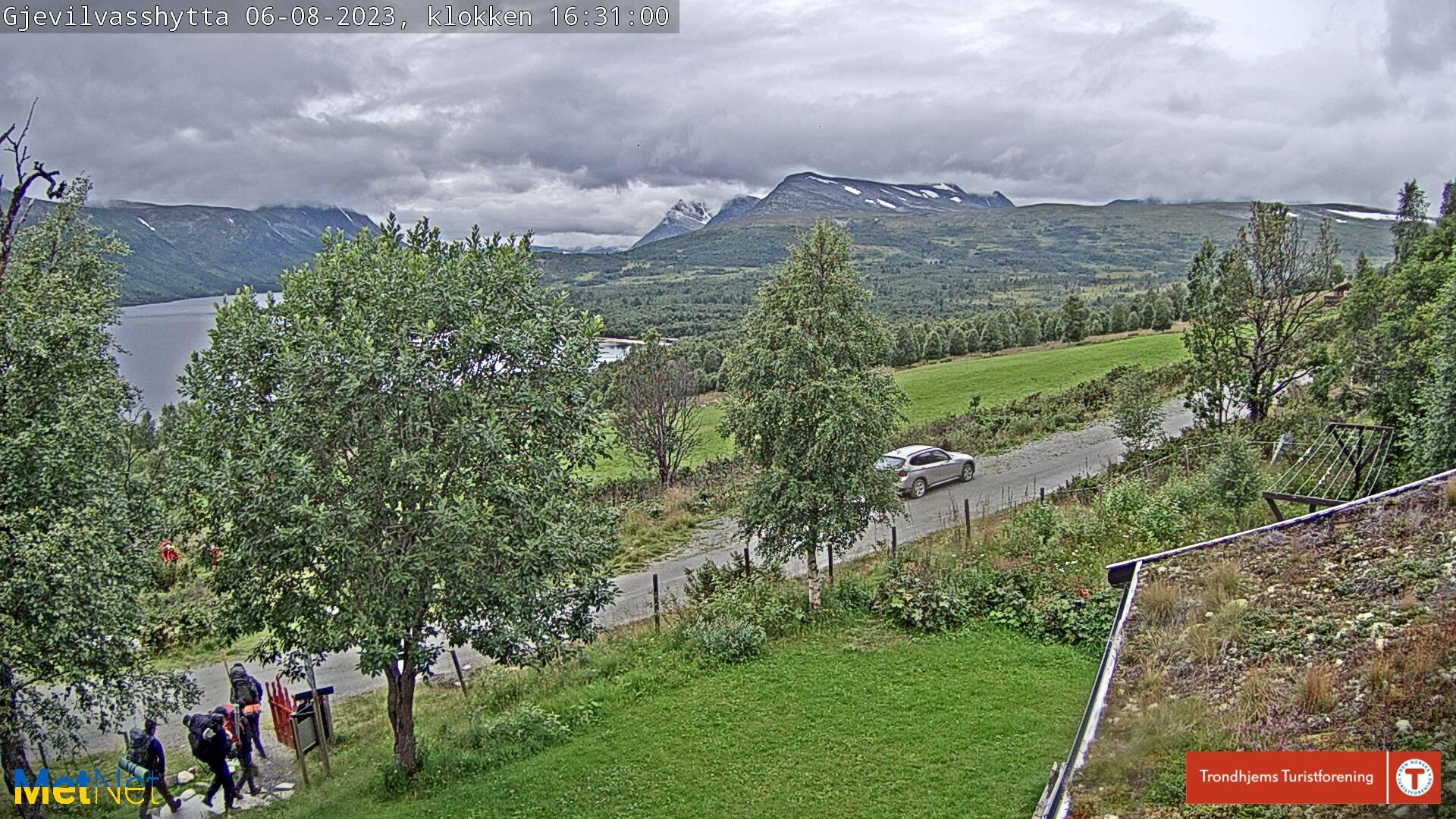 Webkamera Munkvoll › West: Utsikt fra Gjevilvasshytta mot Ok