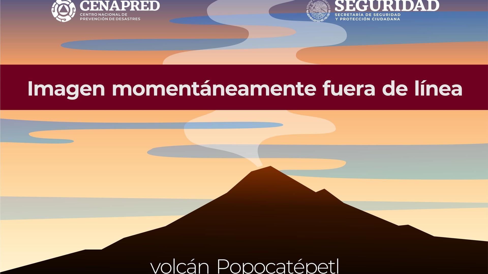 Webcam Tlamacas: Volcán Popocatépetl Flanco Norte (cerca)