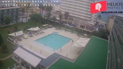 Palma de Majorque: Hotel Helios Can Pastilla garden-pool webcam