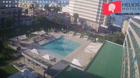 Palma: Hotel Helios Can Pastilla garden-pool webcam - Actuales