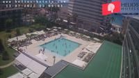 Palma: Hotel Helios Can Pastilla garden-pool webcam - Overdag