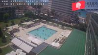 Palma: Hotel Helios Can Pastilla garden-pool webcam - El día