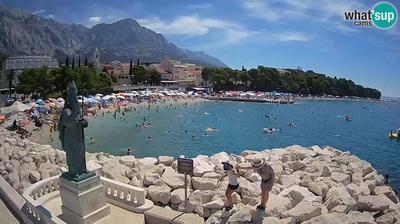 Tageslicht webcam ansicht von Baška Voda: Baska Voda, beach Nikolina
