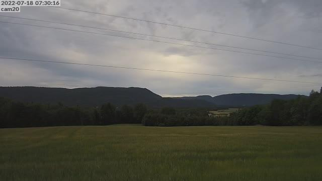 Webcam Hem › North-West: Skinnesfjellet − Hvittingfoss