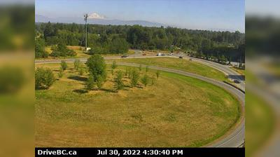 Current or last view from Bradner › South: Fraser Valley, Hwy 1 on ramp from 264th Street, looking south