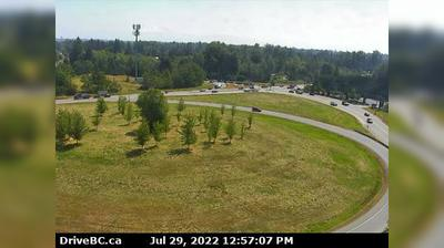 Daylight webcam view from Bradner › South: Fraser Valley, Hwy 1 on ramp from 264th Street, looking south