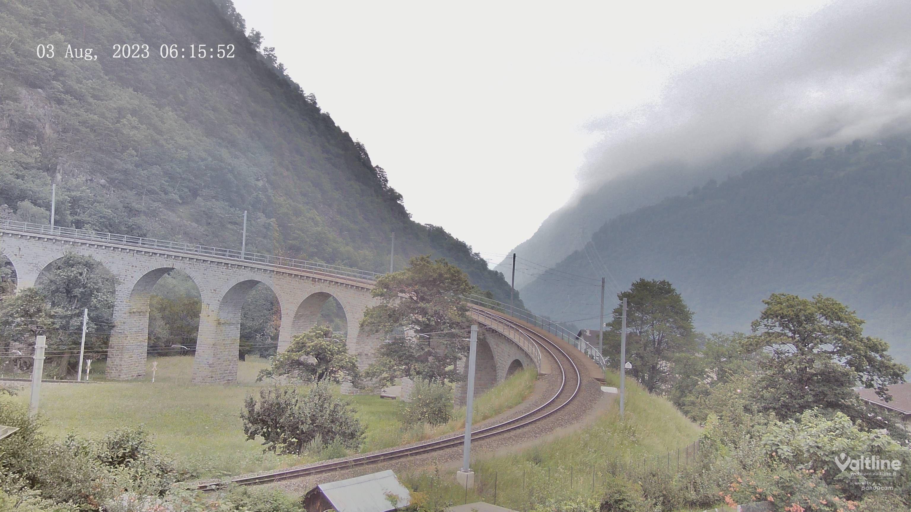 Li Canvi: Brusio, webcam Trenino Rosso