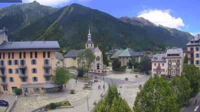 Vista de cámara web de luz diurna desde Chamonix