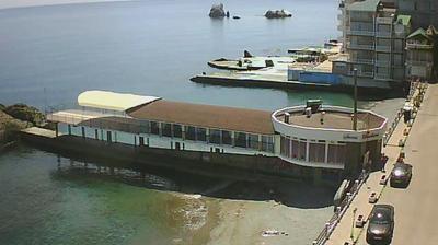 Vue webcam de jour à partir de Utes: Николаевка Крым − Алушта п. Утес