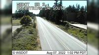 Poulsbo > South: SR  at MP : Equestrian Dr Looking South - El día