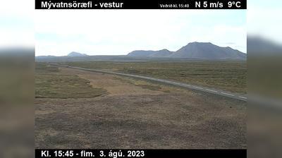 Current or last view from Neskaupstadur: Mývatnsöræfi