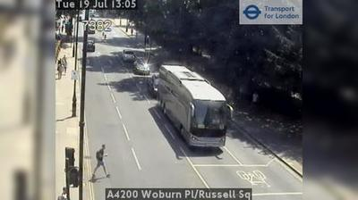 Daylight webcam view from London: A4200 Woburn Pl/Russell Sq